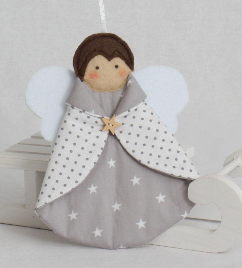 Baumschmuck Engel grau