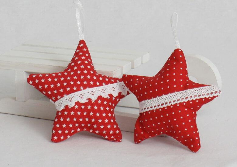Baumschmuck Sterne rot