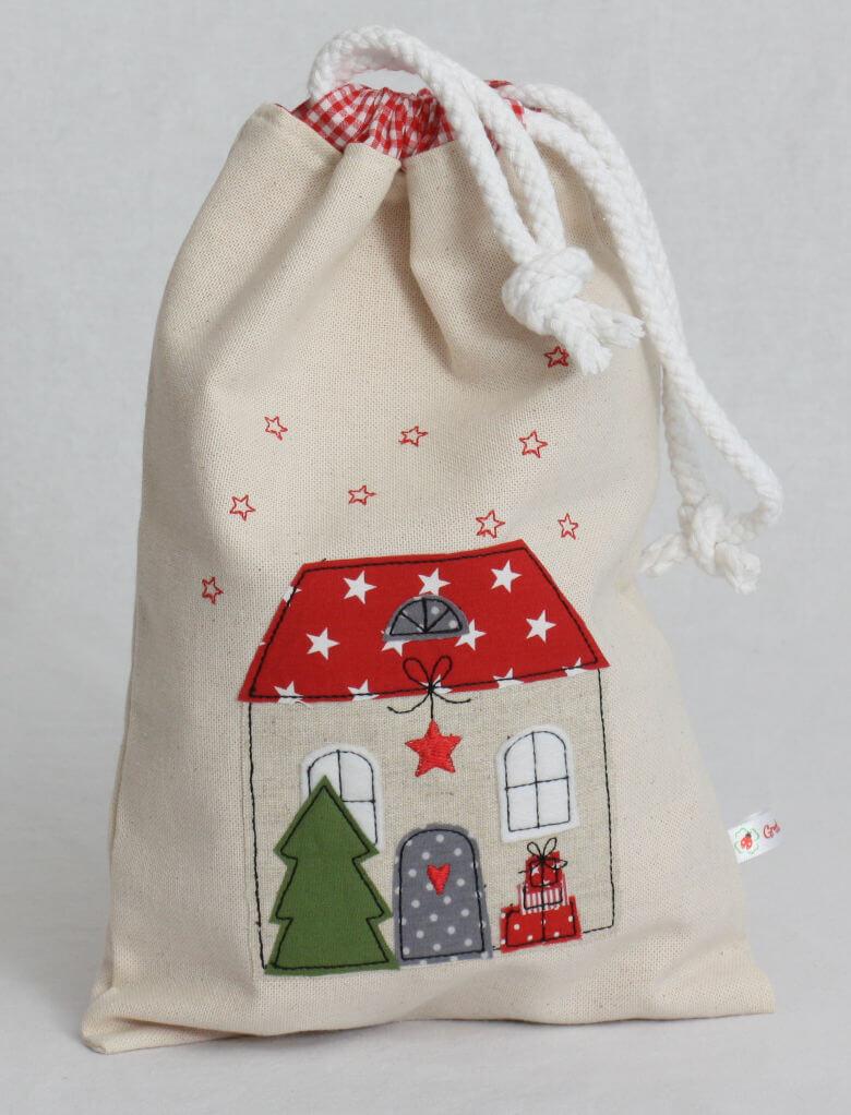 Geschenkbeutel Weihnachtshaus