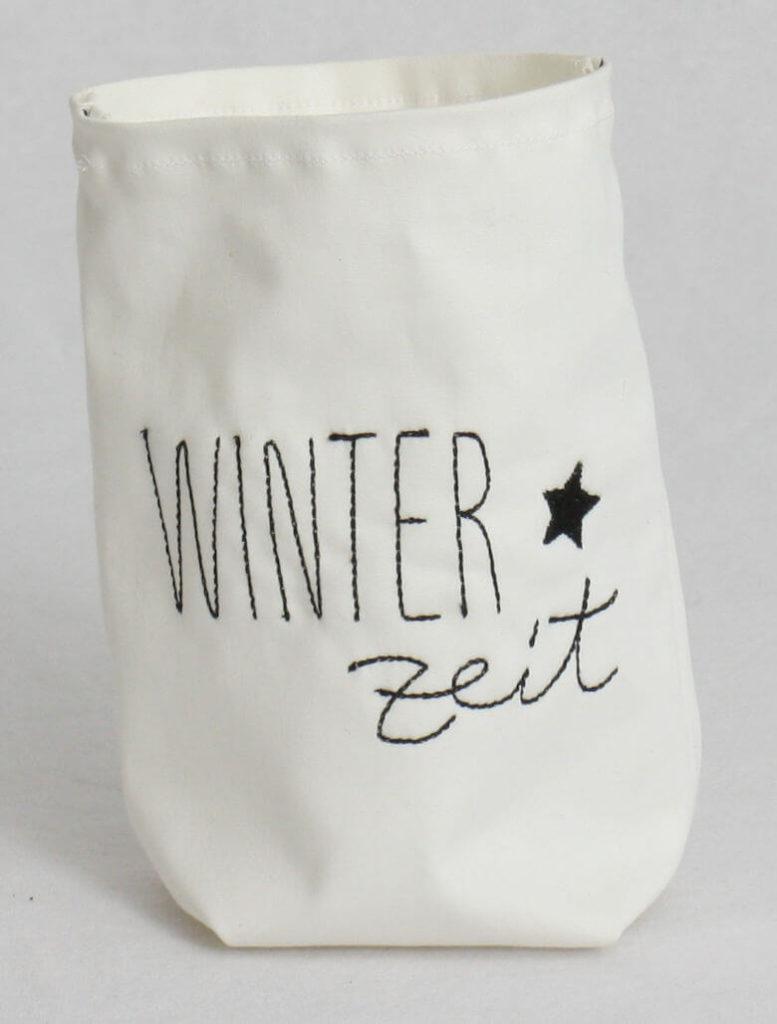 Lichtertüte klein bestickt WinterZeit