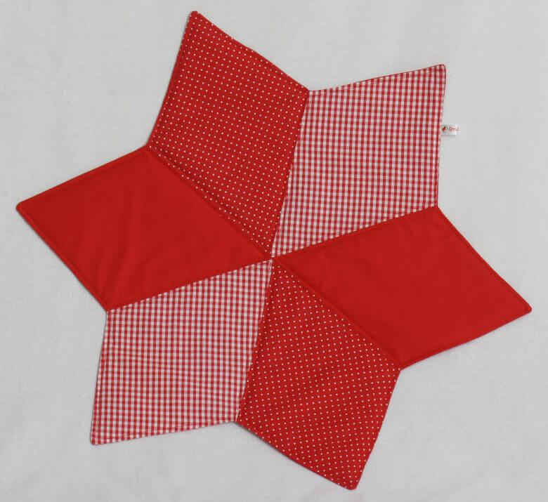 Sternuntersetzer rot weiß