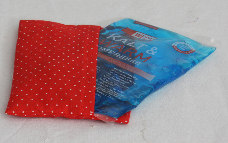 Kühlpadhülle rot Kühlpad inklusive