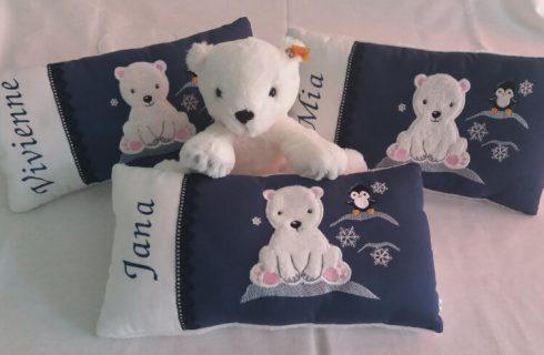 Geburtskissen Eisbär